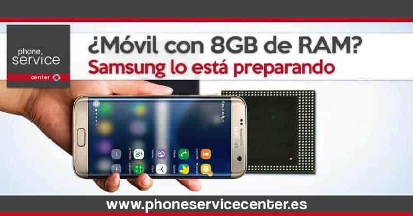 Samsung prepara un movil con 8 GB de RAM