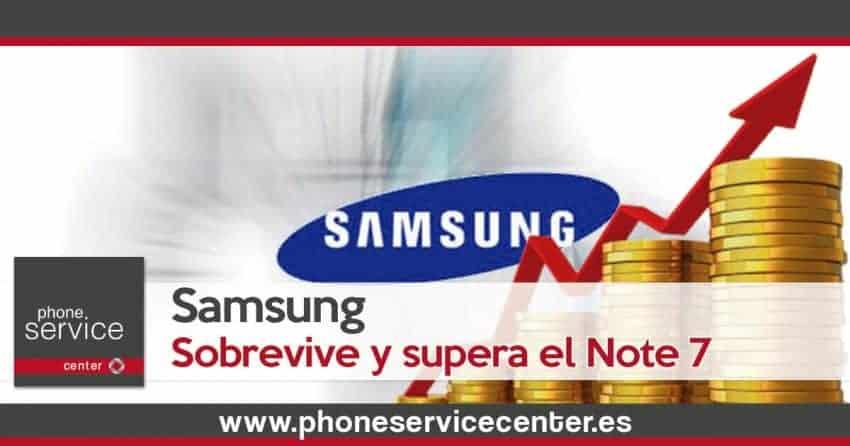 Samsung sobrevive y supera el batacazo del Note 7