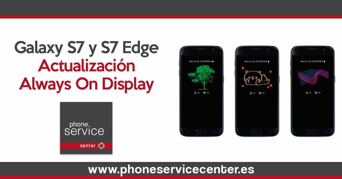 Se actualiza Always On Display en los S7
