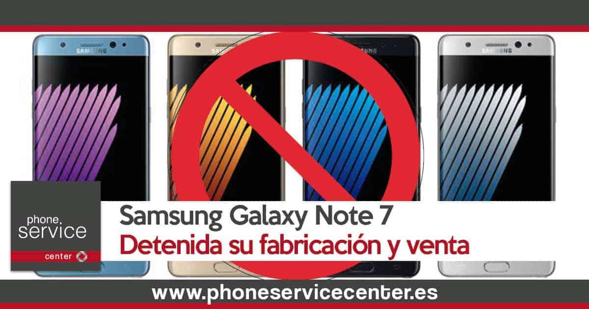 Se detiene la fabricacion y venta del Samsung Galaxy Note 7