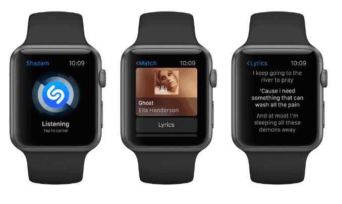 Shazam Apple Watch Series 2
