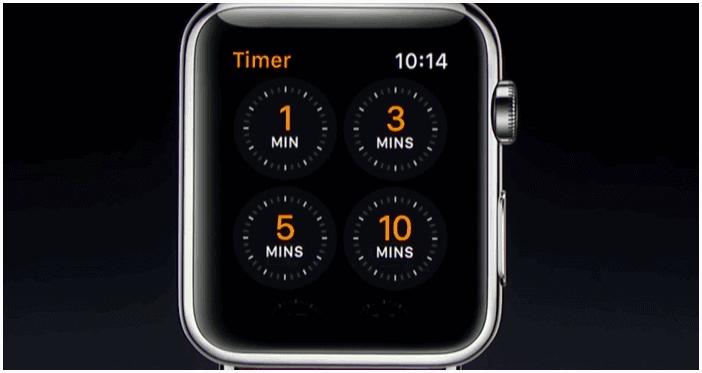 Temporizador Apple Watch Series 2