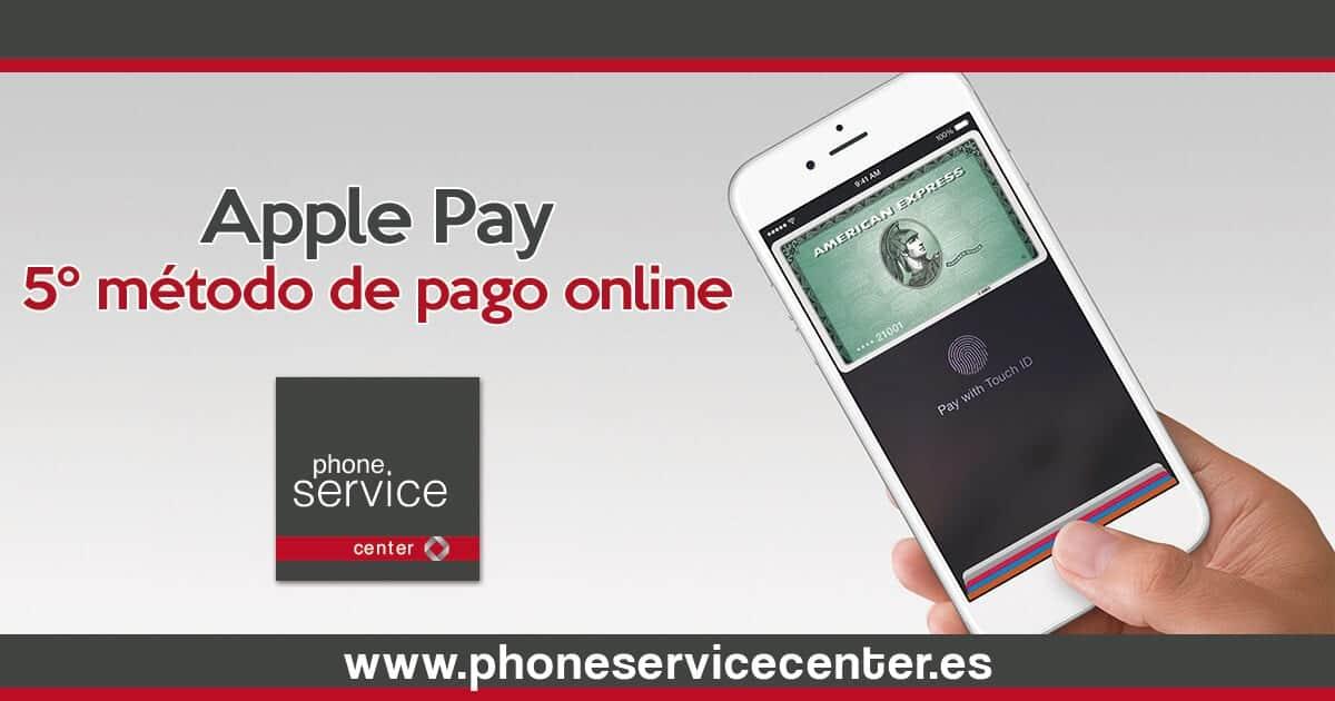 Apple Pay es el quinto metodo de pago online