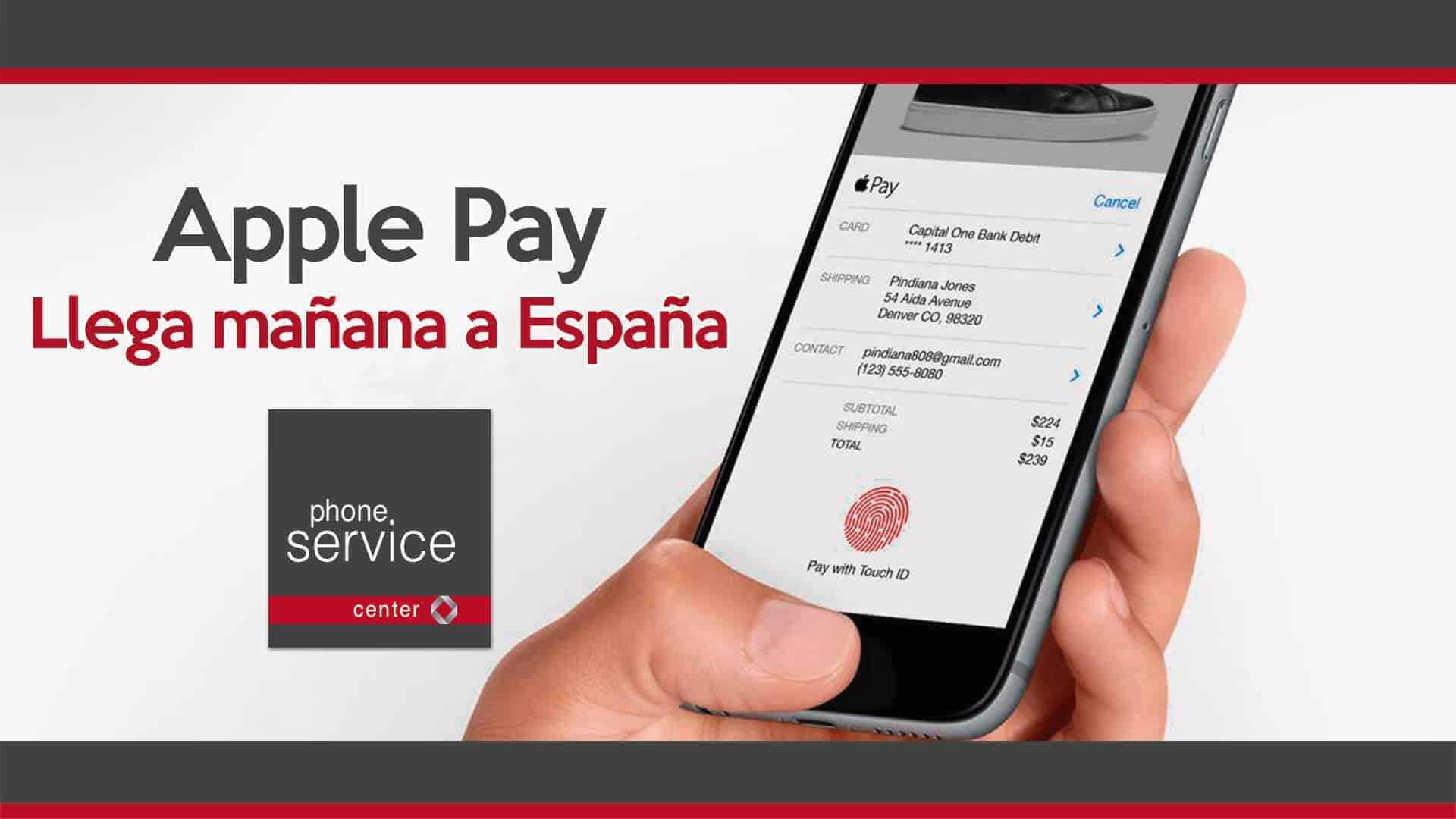 Apple Pay llega manana a Espana