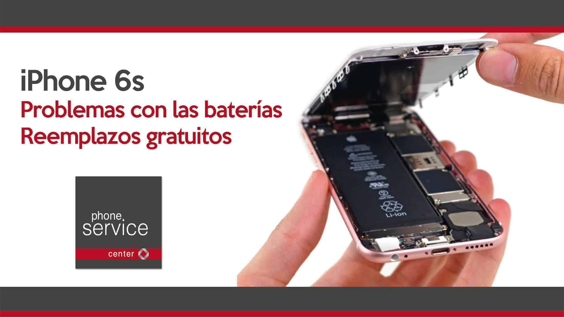 Apple problemas con baterias del iPhone 6s