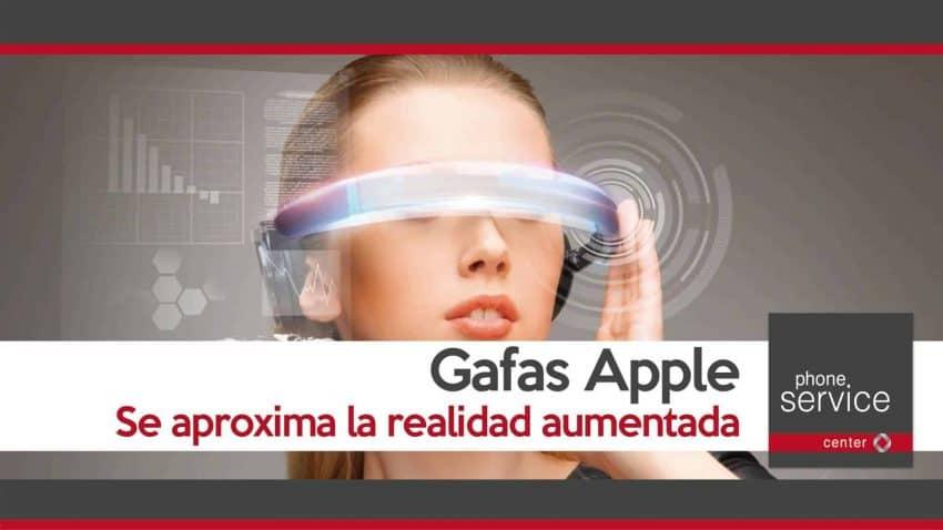 Gafas Apple se aproxima la realidad aumentada