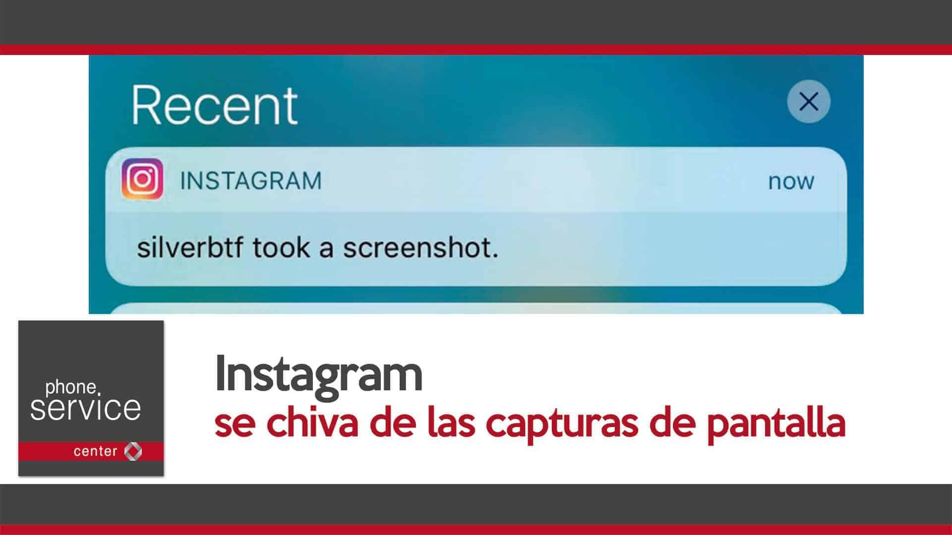 Instagram se chiva de las capturas de pantalla
