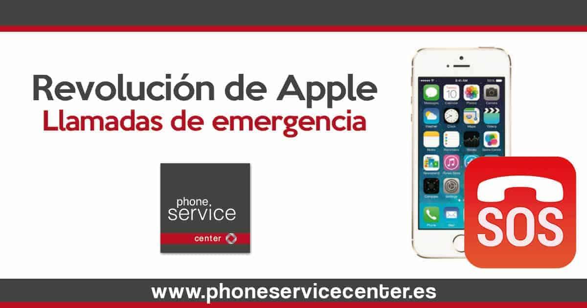 Llamadas de emergencia de Apple