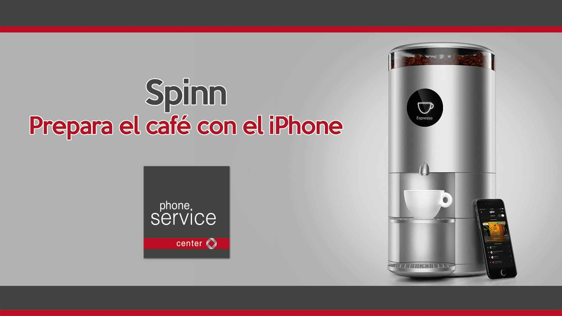 Spinn prepara el cafe con el iPhone