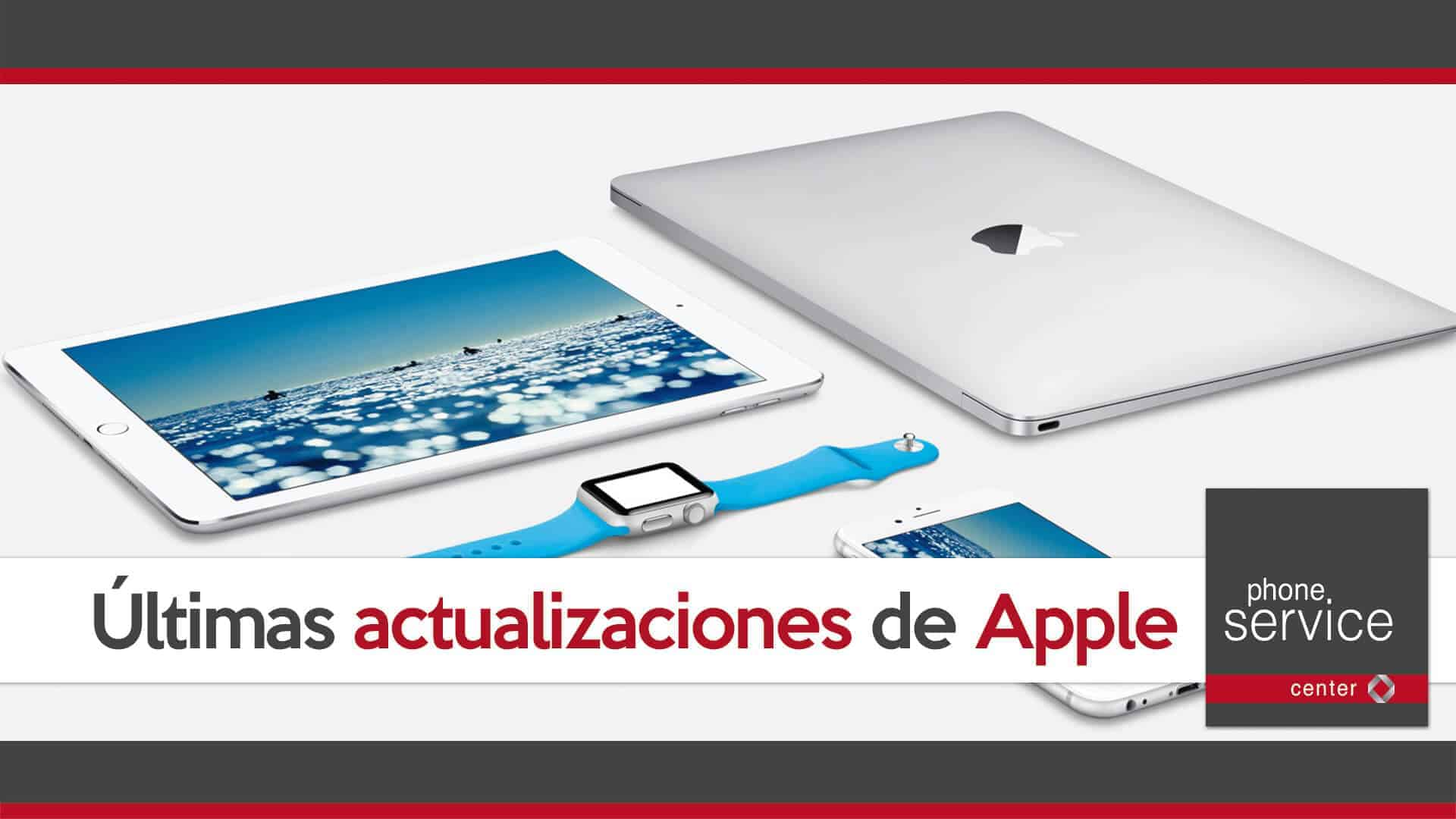 Ultimas actualizaciones de Apple