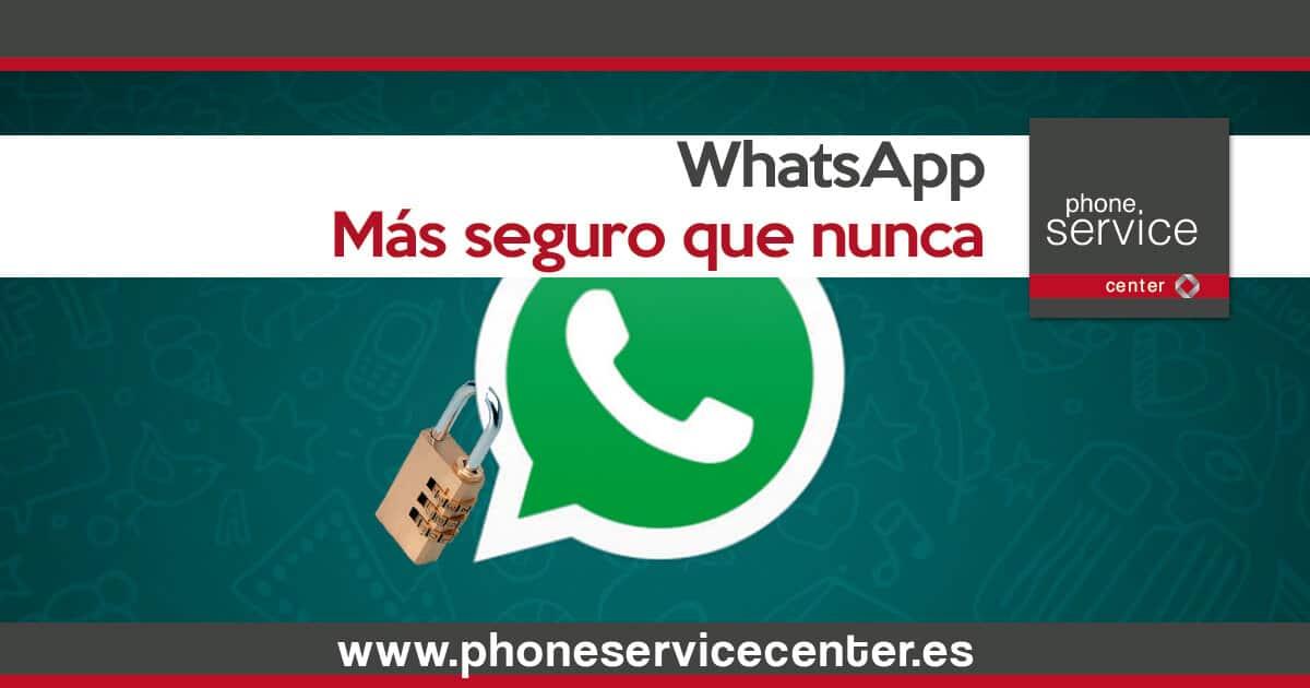 WhatsApp mas seguro que nunca