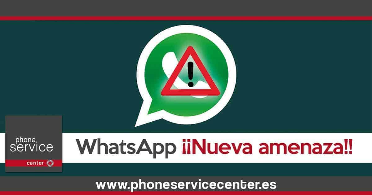 WhatsApp nueva amenaza