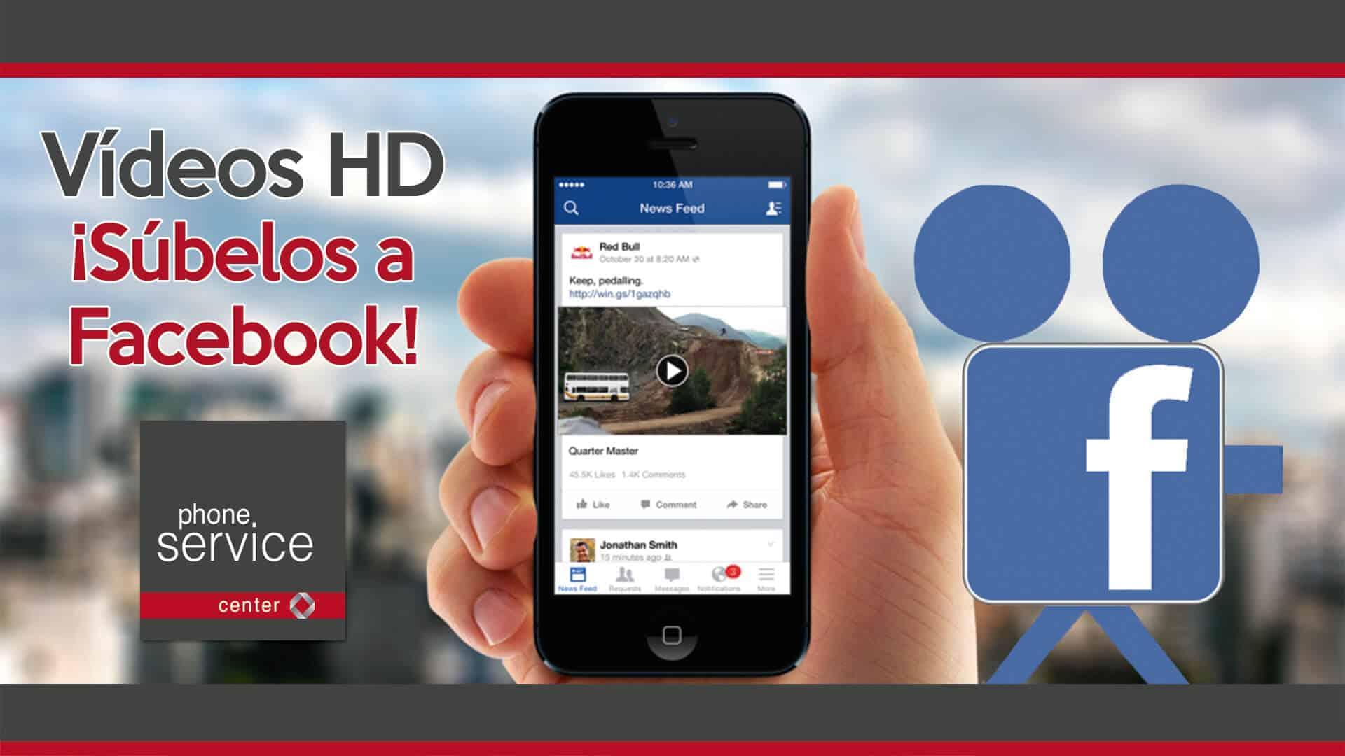 Ya puedes subir a Facebook videos en HD