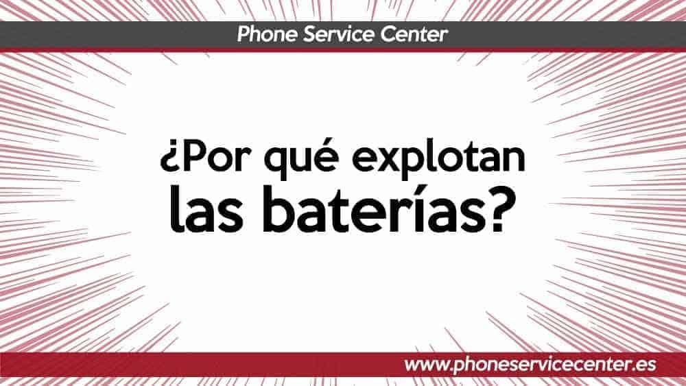 explosion de las baterias
