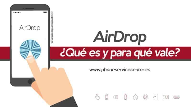 usar AirDrop en iPhone