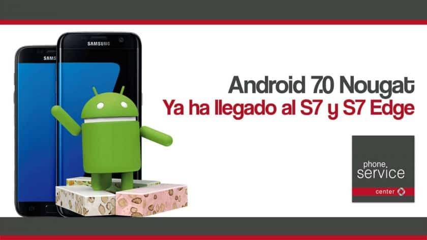 Android 7.0 Nougat ya en el S7 y S7 Edge