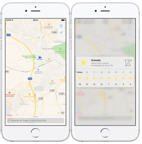 Mapas y Tiempo iOS 10.3