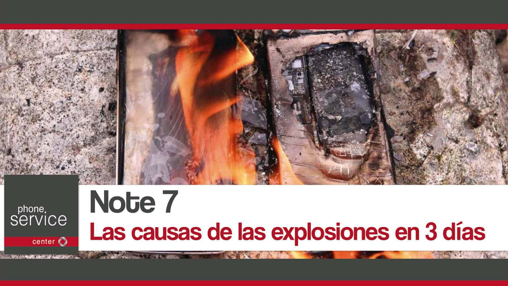 Note 7 causas de las explosiones