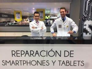 Reparación de móviles en El Corte Inglés de Castellana Técnicos