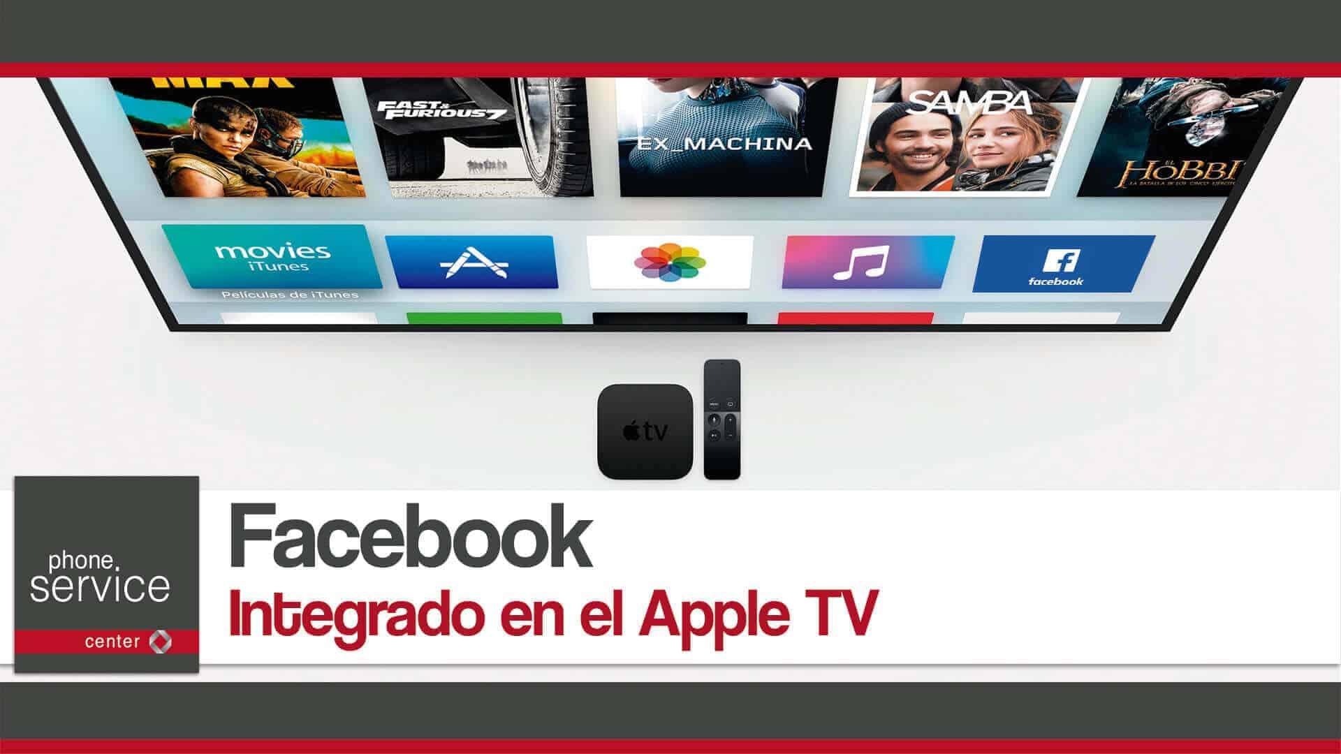 Facebook integrado en el Apple TV