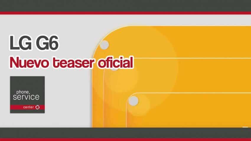 El teaser oficial de LG G6 muestra su nueva interfaz