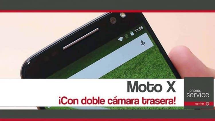Moto X con doble camara trasera