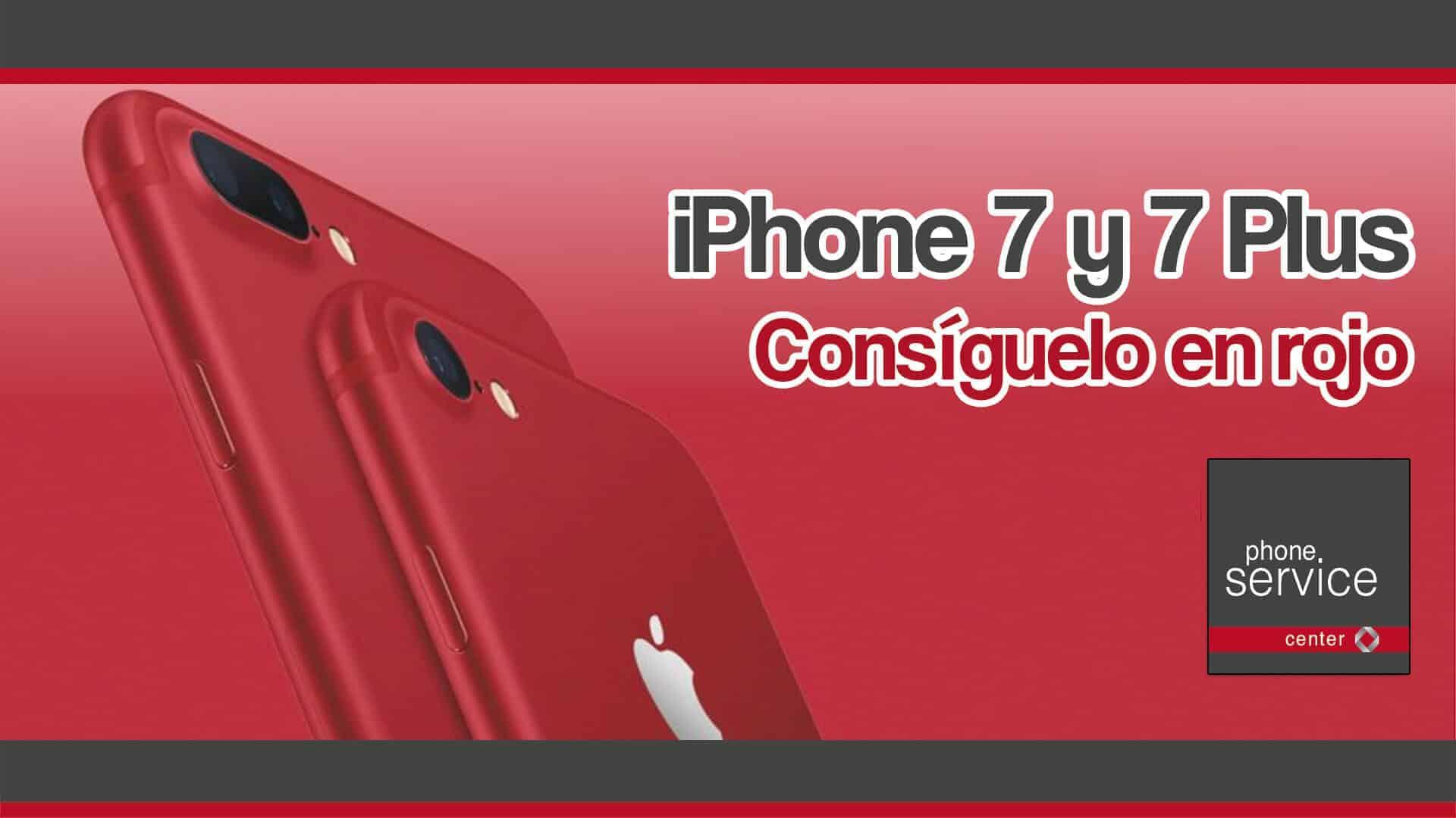 iPhone7y7Plusenrojo