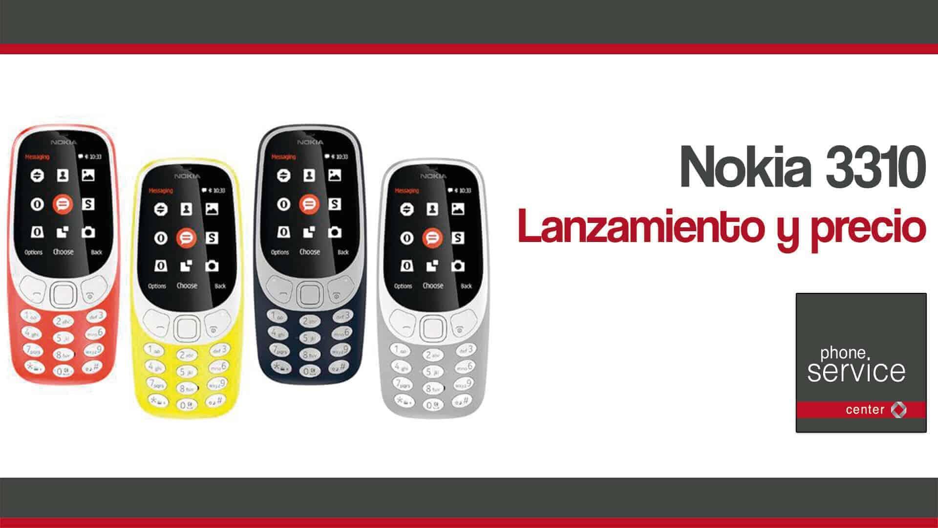 El lanzamiento del Nokia 3310 y su precio
