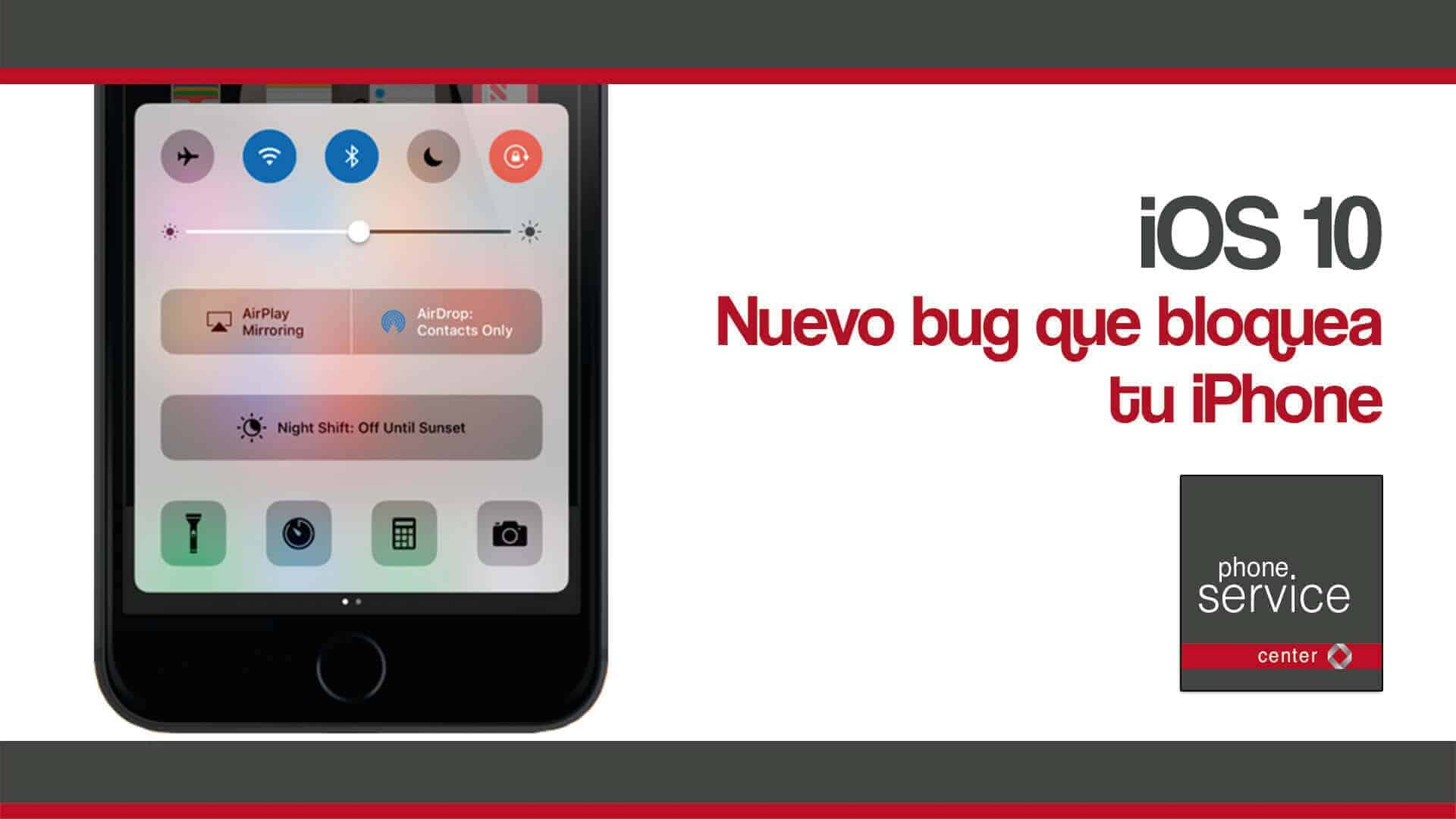 bug de iOS 10 bloquea tu iPhone