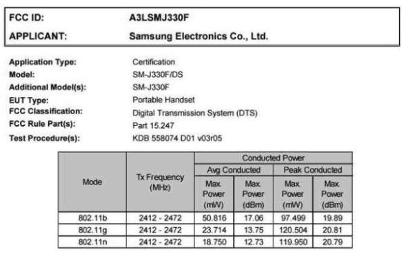 Galaxy J3 Especificaciones modelos