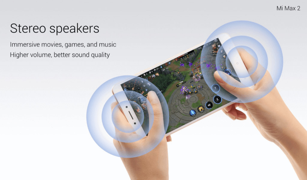 Xiaomi Mi Max 2 altavoces estereo