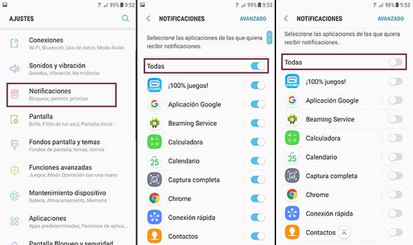 desactiva notificaciones android
