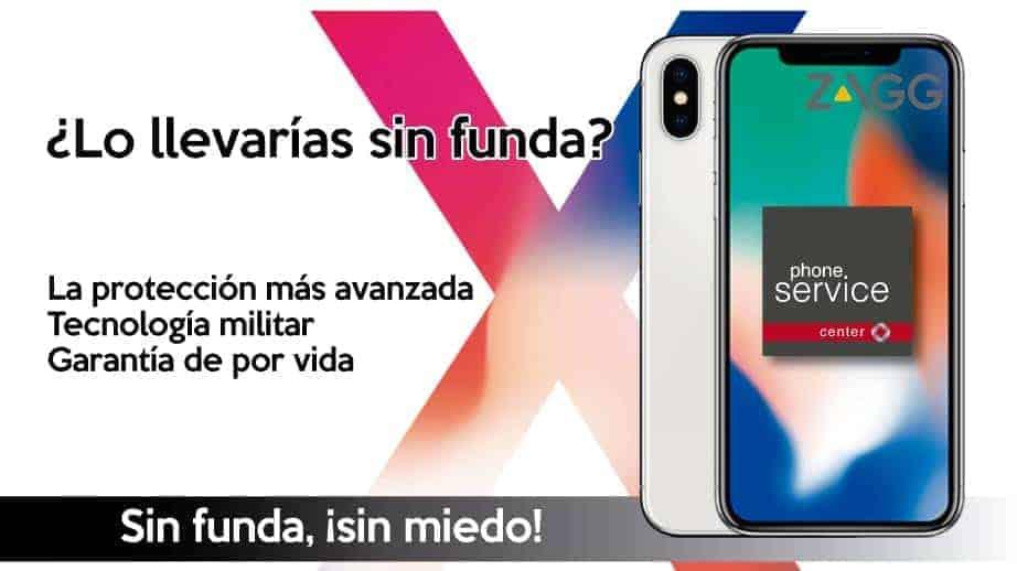 Zagg proteccion invisible shield iPhone X