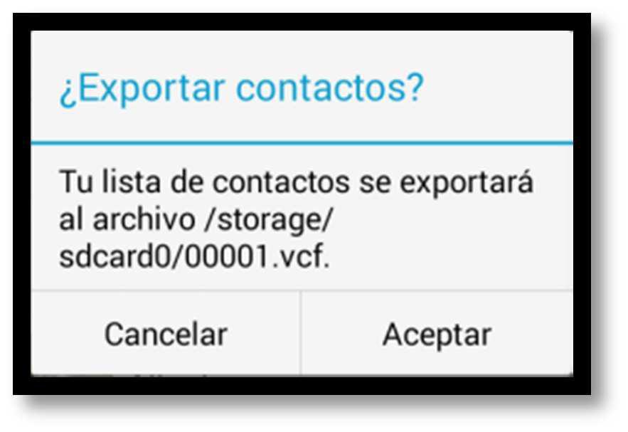 Exportar contactos cop seg paso 3