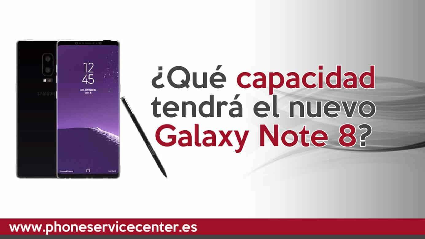 Galaxy Note 8 vendra con 64 y 128 Gb
