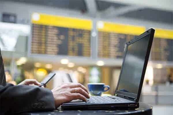 conectar el movil a una red WiFi publica aeropuerto