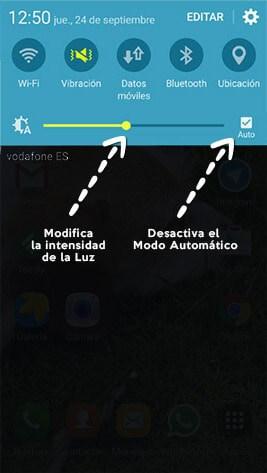 Aumenta la bateria del Galaxy S6 reduciendo el brillo de la pantalla