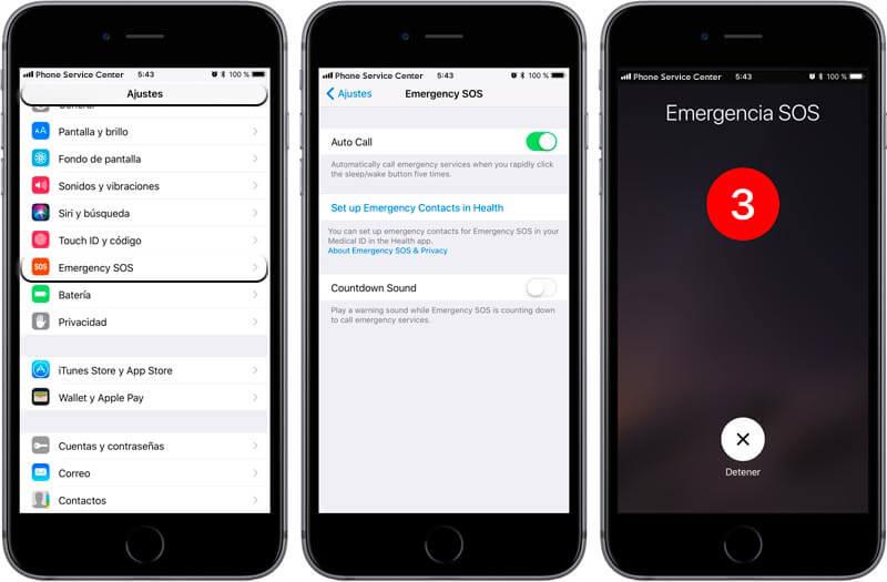 iOS 11 Emergencias SOS