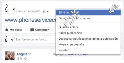 elimina publicaciones de facebook