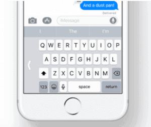 escribir con una sola mano en iOS 11