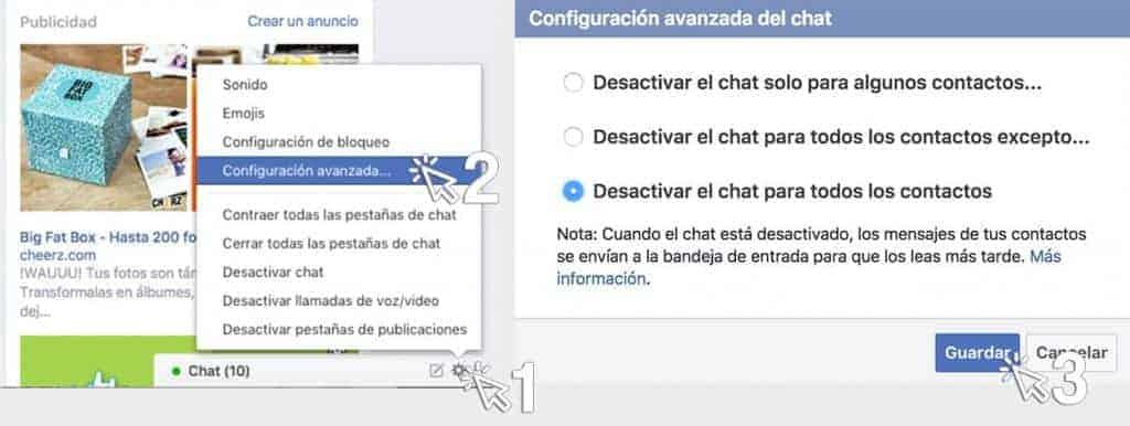 Esconde que estas activo en Facebook Messenger