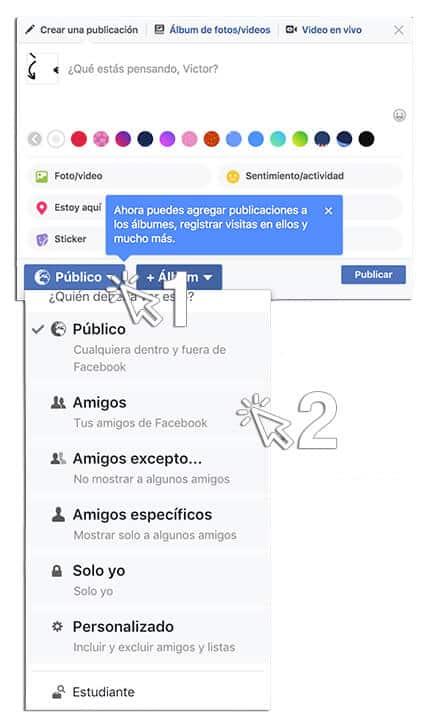 Esconde tu actividad en Facebook