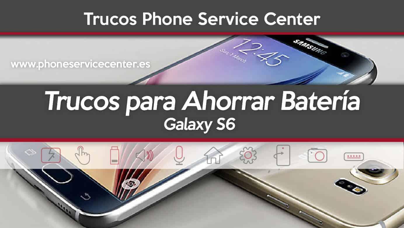 Como arreglar los problemas de bateria del Galaxy S6