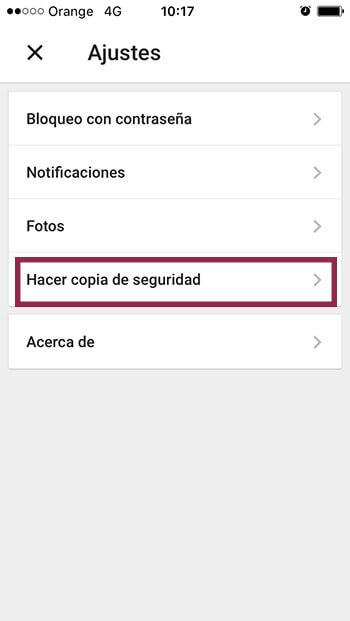 transferir tu contenido desde iOS a Android 2