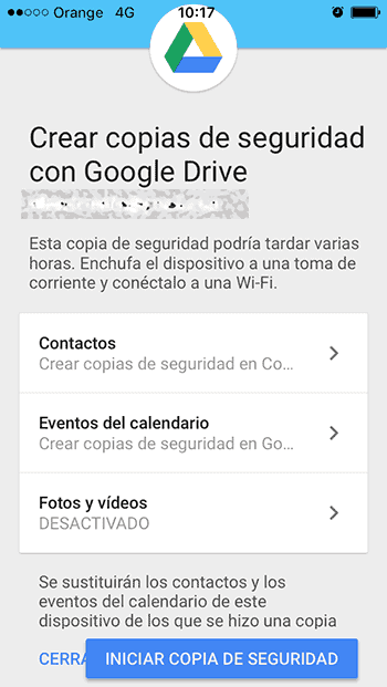 transferir tu contenido desde iOS a Android 3