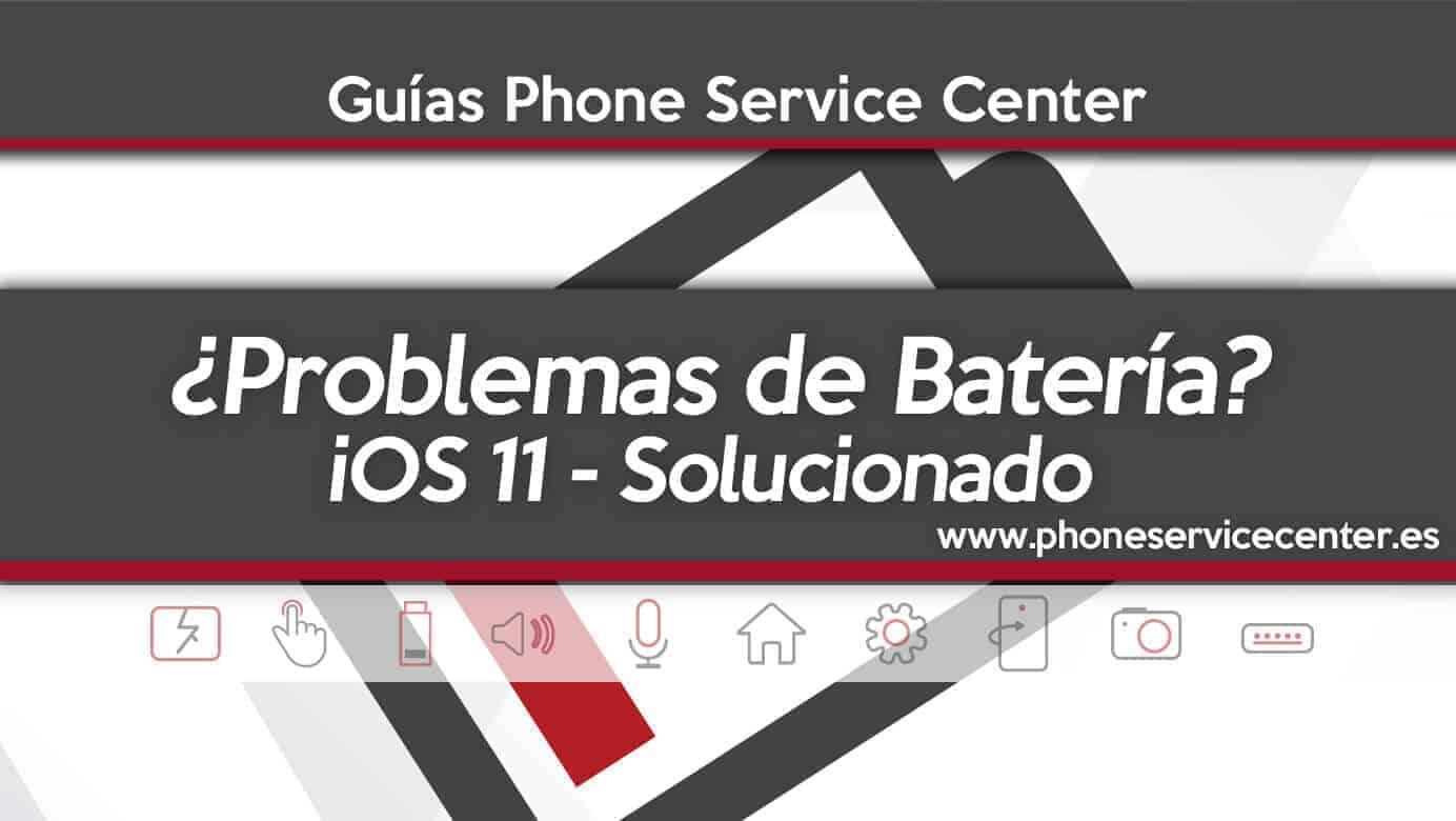 problemas de bateria con iOS 11
