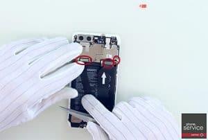 25.-Conectamos-la-antena-el-flex-de-la-pantalla-y-el-flex-que-conecta-la-placa-base-con-la-subplaca