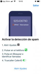 Activar la deteccion de spam en Truecaller