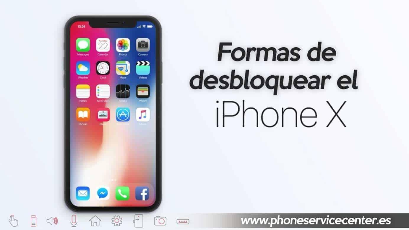 desbloquear el iPhone X