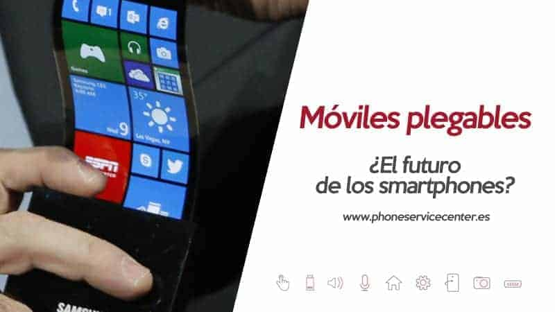 movil con pantalla flexible